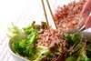 レタスの和風サラダの作り方の手順6
