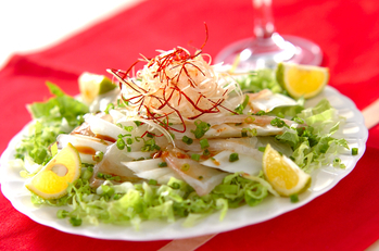 白身魚の和風カルパッチョ