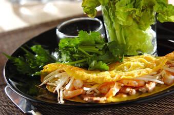バインセオ(ベトナム風お好み焼き)