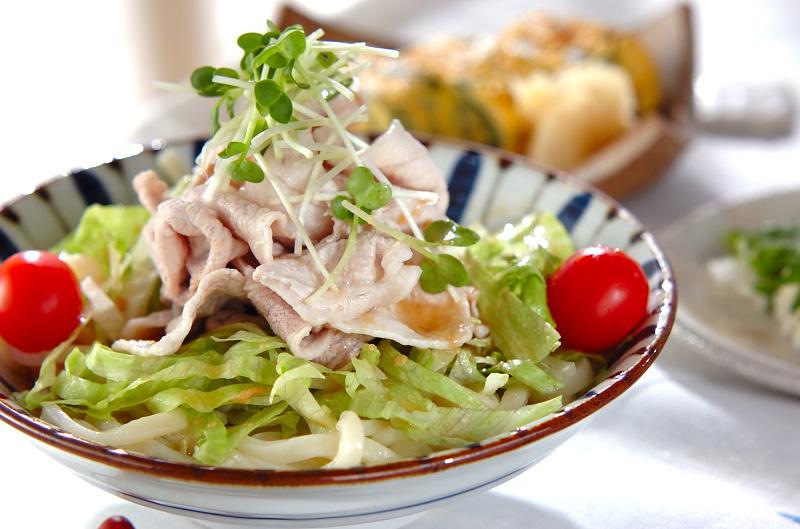 豚しゃぶのせサラダうどん