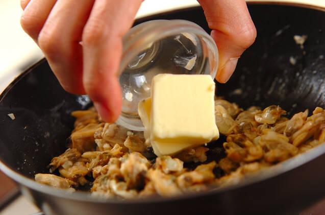 アサリのバターじょうゆ丼の作り方の手順3