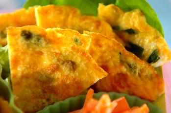 ニラとチーズの卵焼き