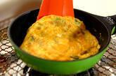 ニラとチーズの卵焼きの作り方3
