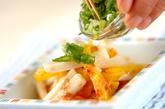 長芋とたくあんの和え物の作り方1