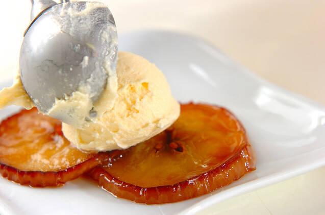 スライスリンゴのソテーの作り方の手順4