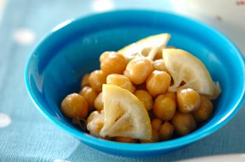 ヒヨコ豆のバターレモン煮