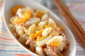 マッシュ長芋とベーコン