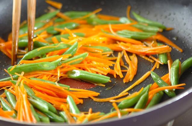 インゲンとニンジンのゴマ白和えの作り方の手順4