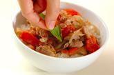 豚とトマトのバルサミコ炒め丼の作り方3