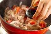 豚とトマトのバルサミコ炒め丼の作り方2