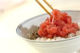ネギトロちらし寿司の作り方3