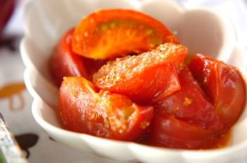 炒めトマトのゴマ塩