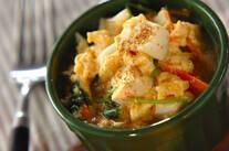 ユリネと豆腐の卵とじ