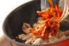 シンプル豚キムチの作り方の手順2