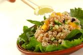 押し麦のサラダの作り方3