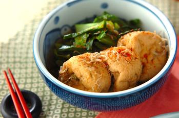がんもどきと青菜の煮物