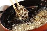 もずくの天ぷらの作り方1