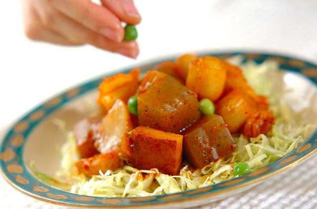コンニャクのキムチ煮の作り方の手順3