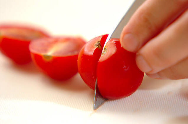 プチトマトの中華白和えの作り方の手順1