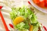 レタスと甘夏のサラダ