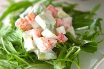 水菜とアボカドのサラダ