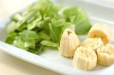 お腹すっきりキャベツとバナナのスムージーの下準備1