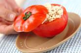 トマトの豆腐詰めサラダの作り方3