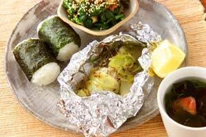 ホイル焼き魚朝定食