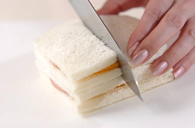 柿のハムチーズサンドの作り方の手順3