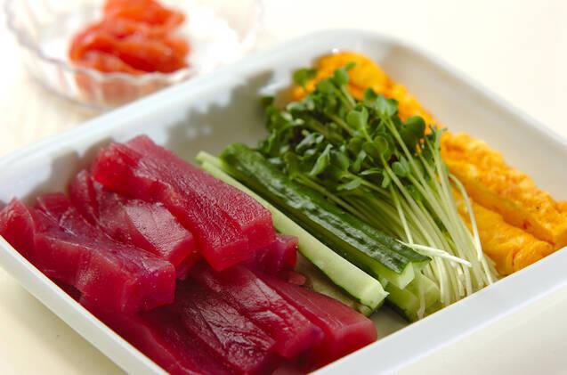 いろいろ手巻き寿司の作り方の手順2