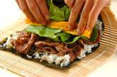 牛肉巻き寿司の作り方5