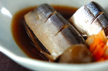 サンマの梅酒煮