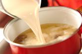 みそ風味豆乳汁の作り方1