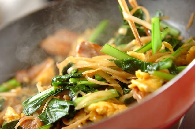 豚肉と小松菜の塩炒めの作り方の手順4