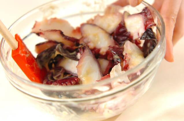 タコとキクラゲの酢みそ和えの作り方の手順4