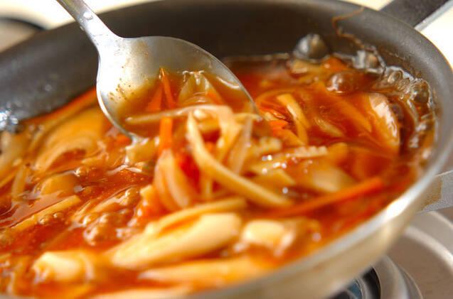 揚げ魚の甘酢あんかけの作り方の手順10