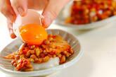 キムチと納豆のからみ餅の作り方3
