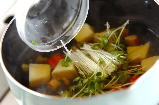 卵豆腐のお吸い物の作り方の手順4