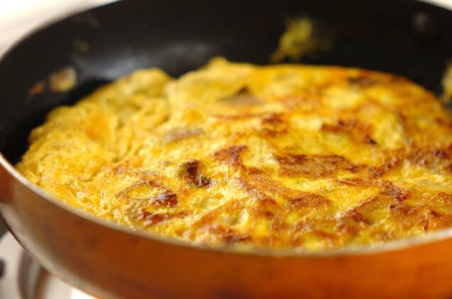 筑前煮の卵焼きの作り方の手順3