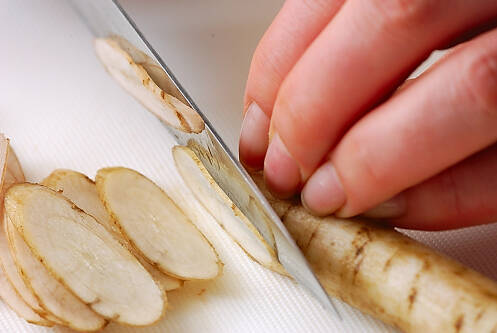 ゆで野菜のゴマ和えの作り方の手順2
