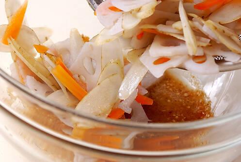 ゆで野菜のゴマ和えの作り方の手順3