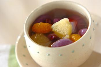 パープル白玉みつ豆