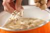 ユリネとシメジのみそ汁の作り方の手順4