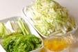 白菜のピリ辛甘酢の下準備1