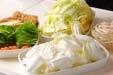 白菜と厚揚げの煮物の下準備2