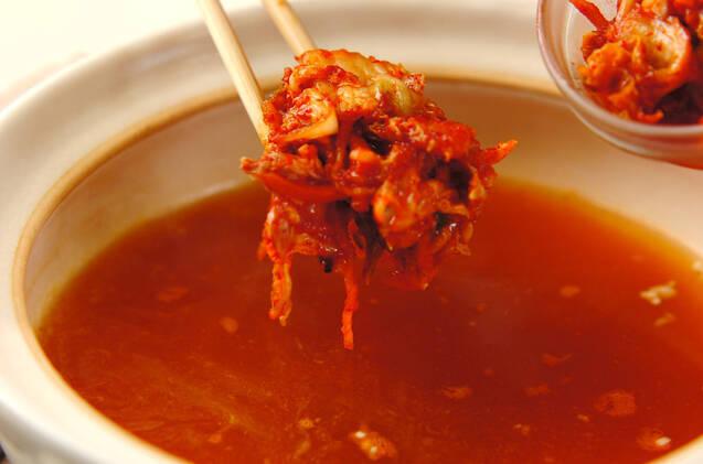 野菜たっぷり!コク旨キムチ鍋の作り方の手順11
