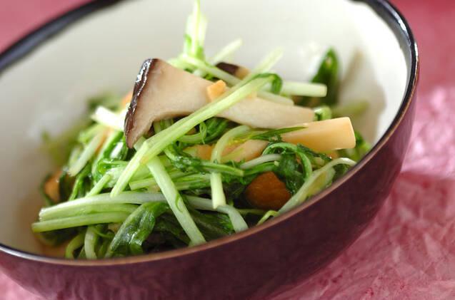 水菜と揚げの炒め物