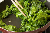 菜の花の炒めものの作り方2