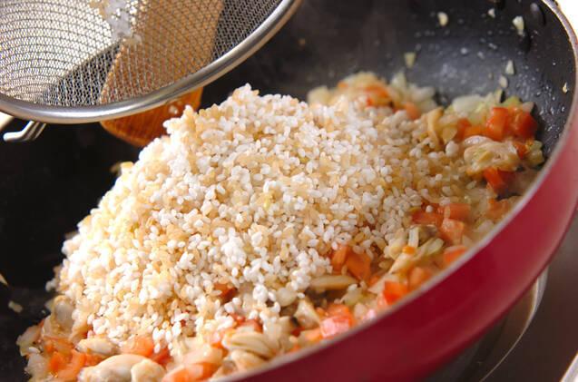 発芽玄米パエリアの作り方の手順12