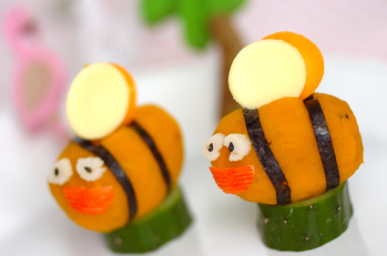 カボチャの蜂